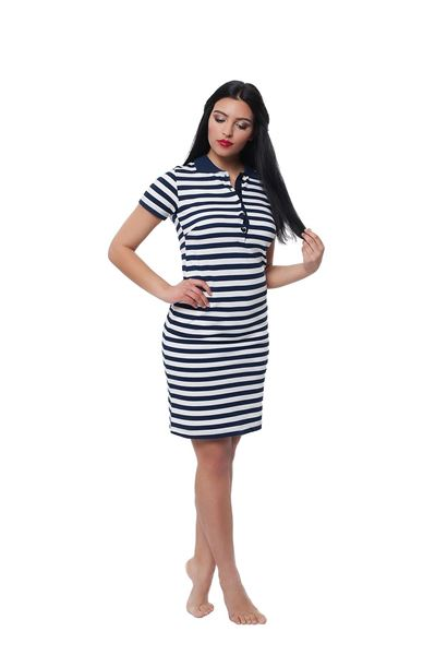 Picture of Women's polo pique short sleeves dress