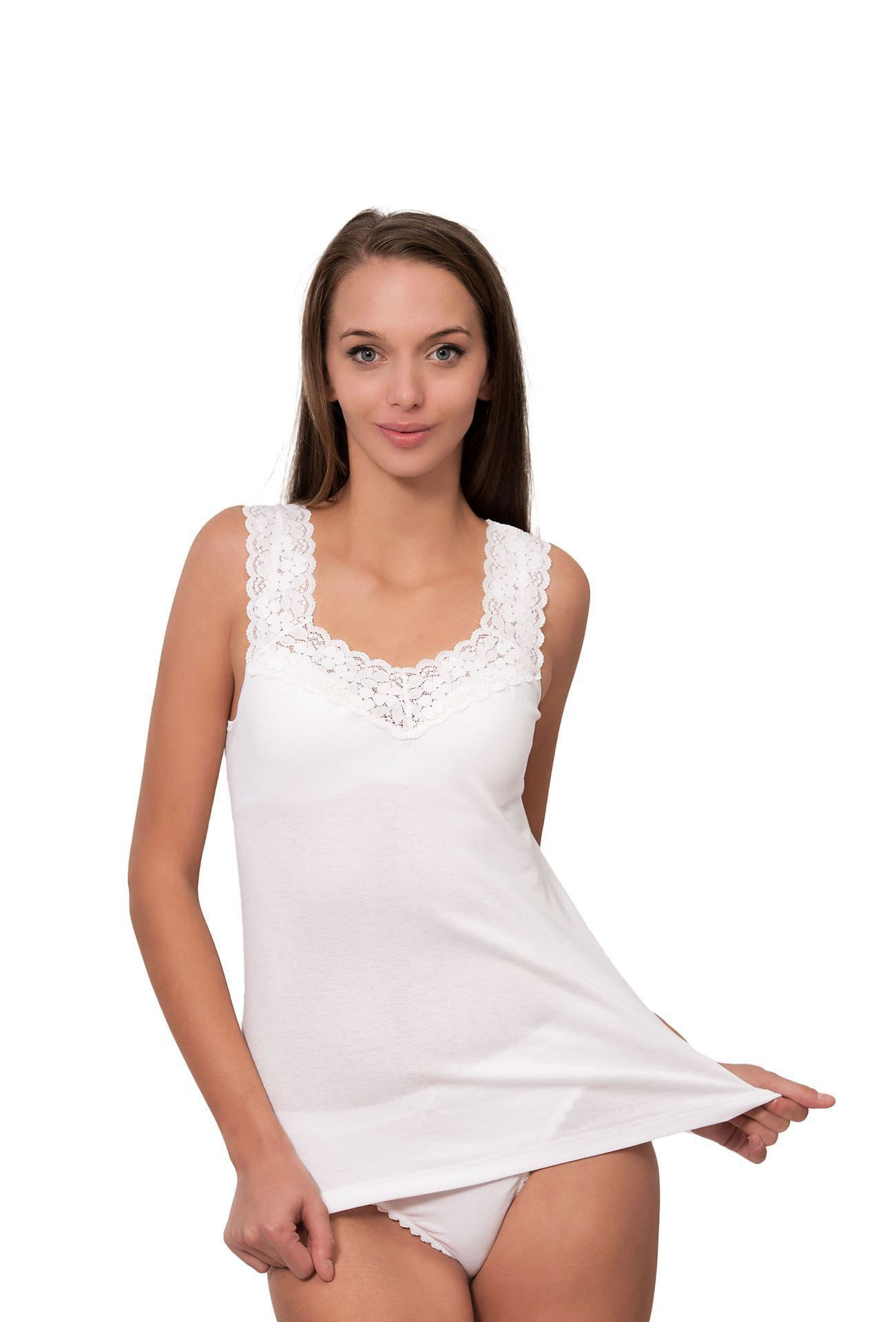 Picture of Women's camisole with wide straps and lace
