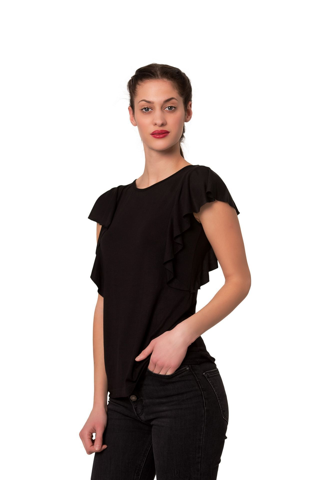 Picture of Women's three quarter length sleeves shirt-Outlet