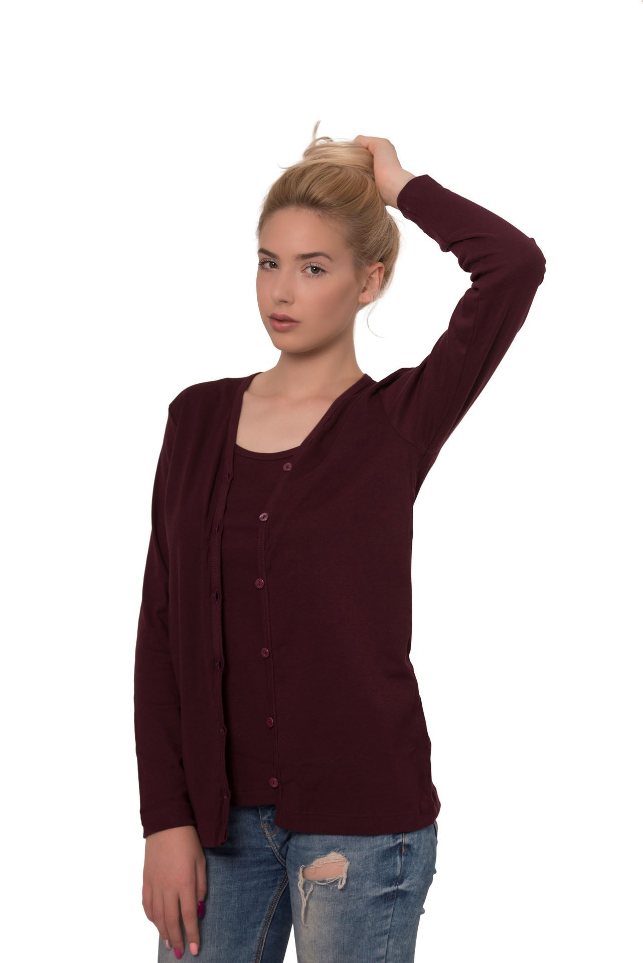 Picture of Women's twin set - shirt with thin straps and cardigan