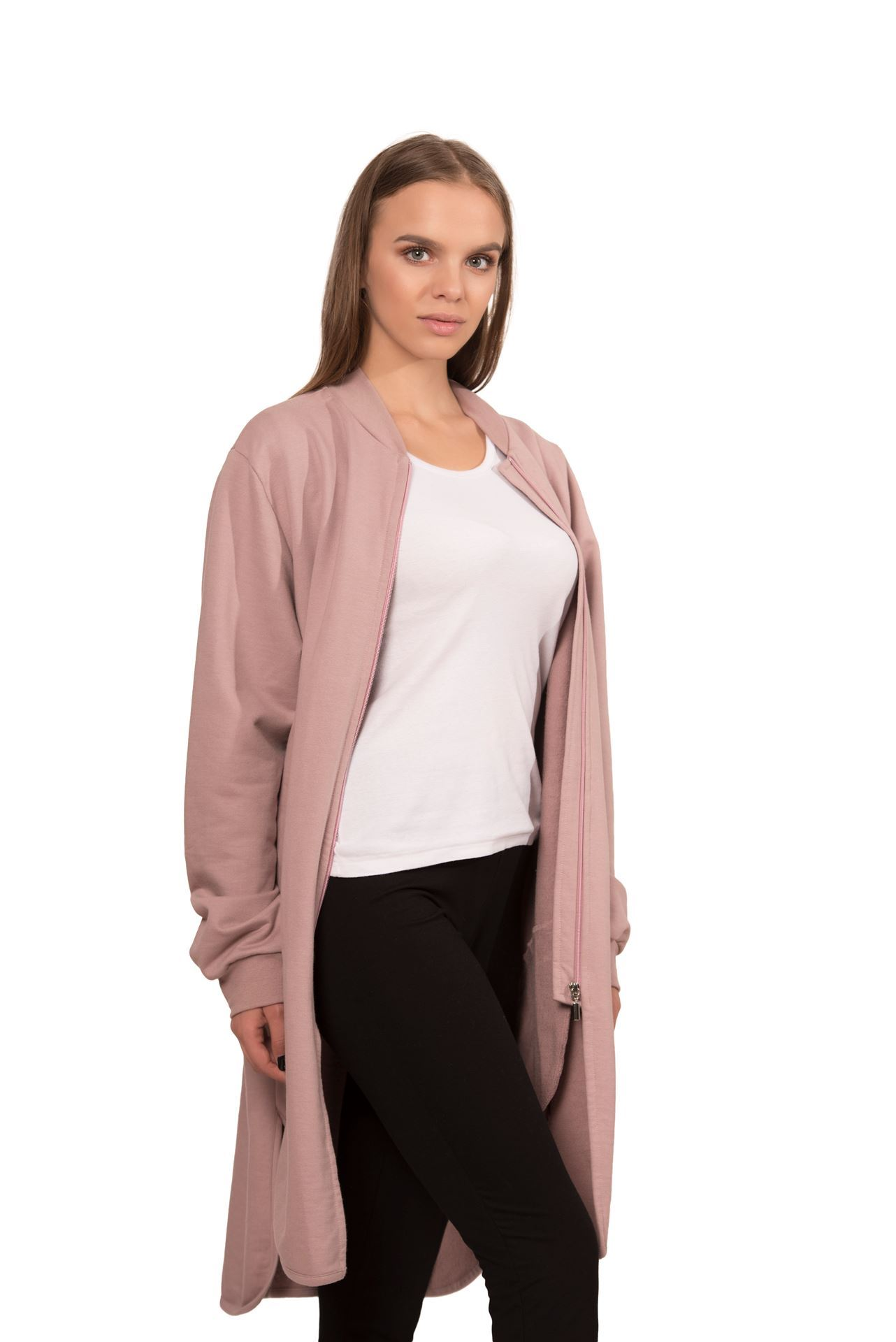 Picture of Women's cotton midi jacket with zipper