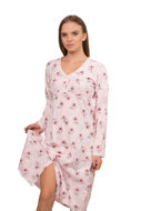 Picture of Women's nightdress with buckles and flower print - Outlet