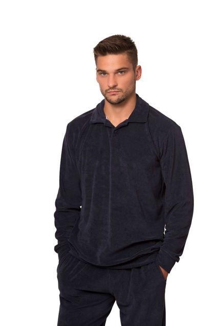 Picture of Men's terry pajamas with collar