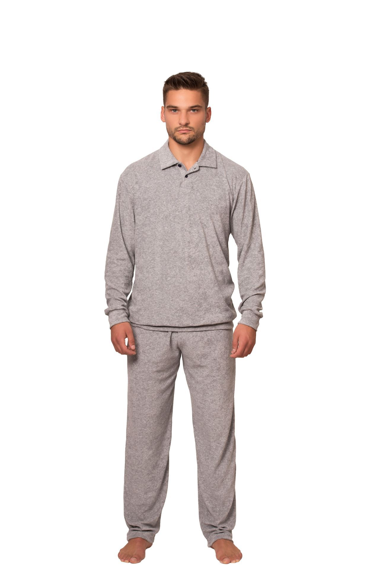 Picture of Men's terry pajamas with collar -