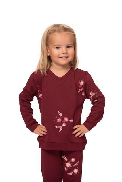 Picture of Dječja ženska pamučna pidžama s cvjetnim uzorkom