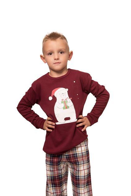 Picture of Dječja muška karirana pidžama s božićnim uzorkom