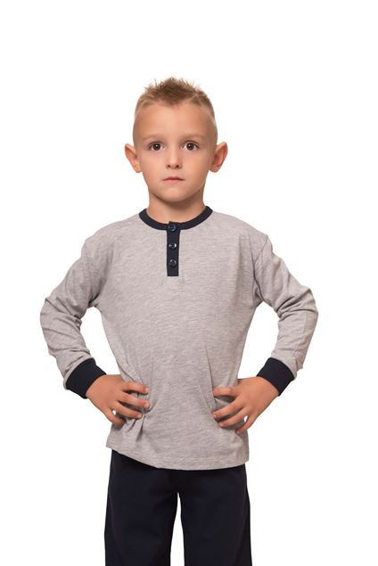 Picture of Cotton pajamas for boys with buttons