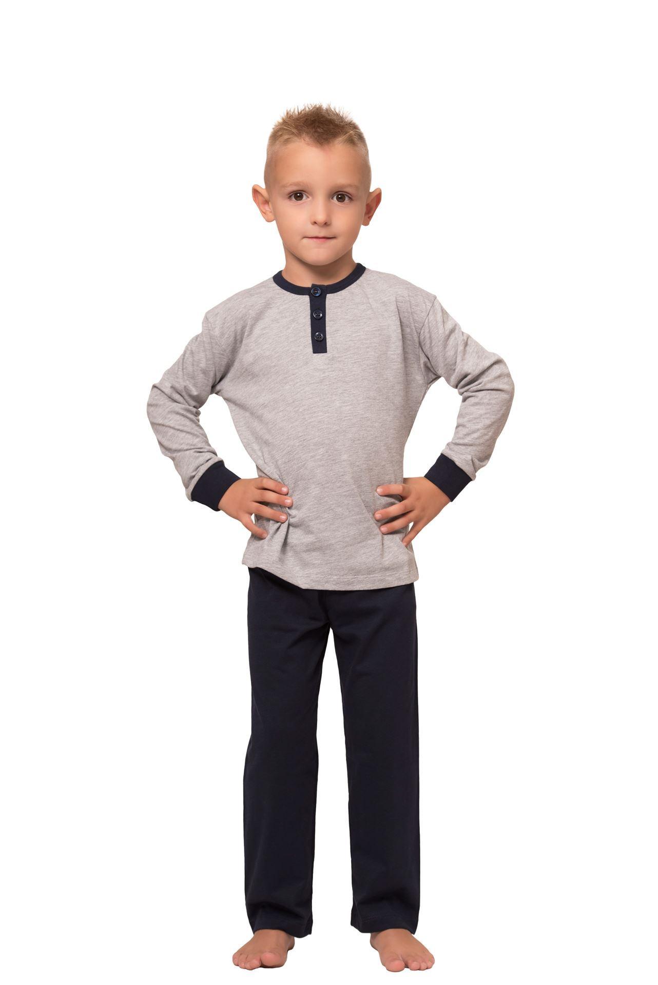 Picture of Dječja muška pamučna pidžama s gumbima