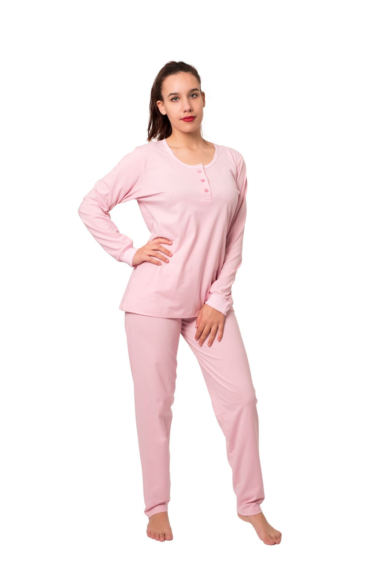 Picture of Women's cotton buttoned pajamas