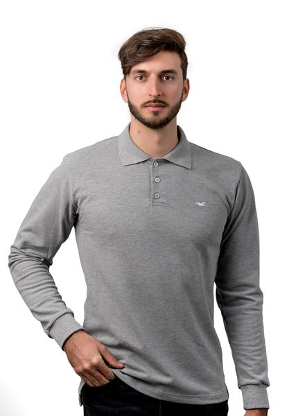 Picture of Men's long sleeve polo shirt
