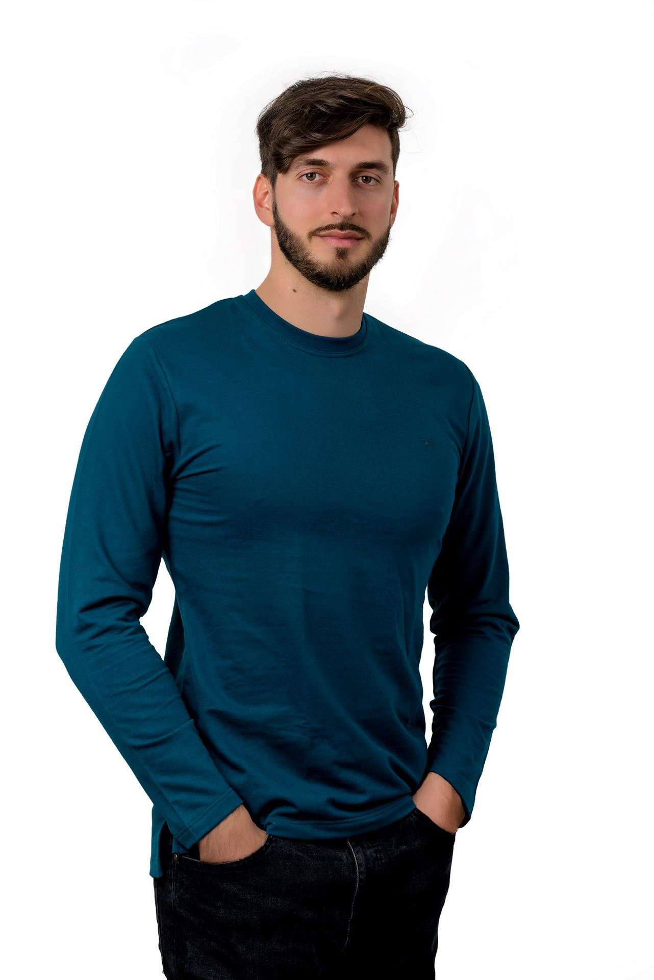 Picture of Men's cotton long sleeve shirt