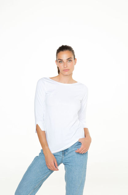 Picture of Women's three quarter length sleeves shirt