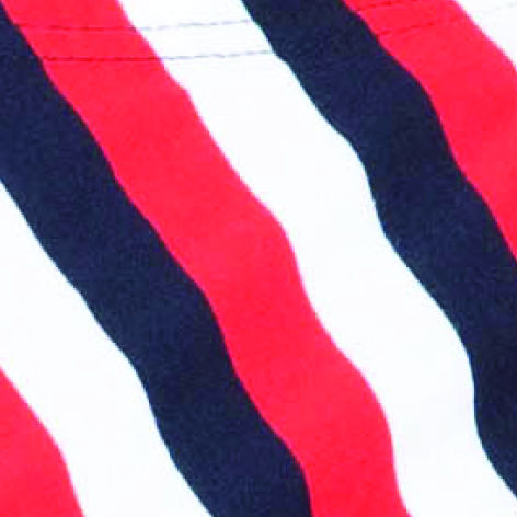 Stripes white / red / dark blue (6010)