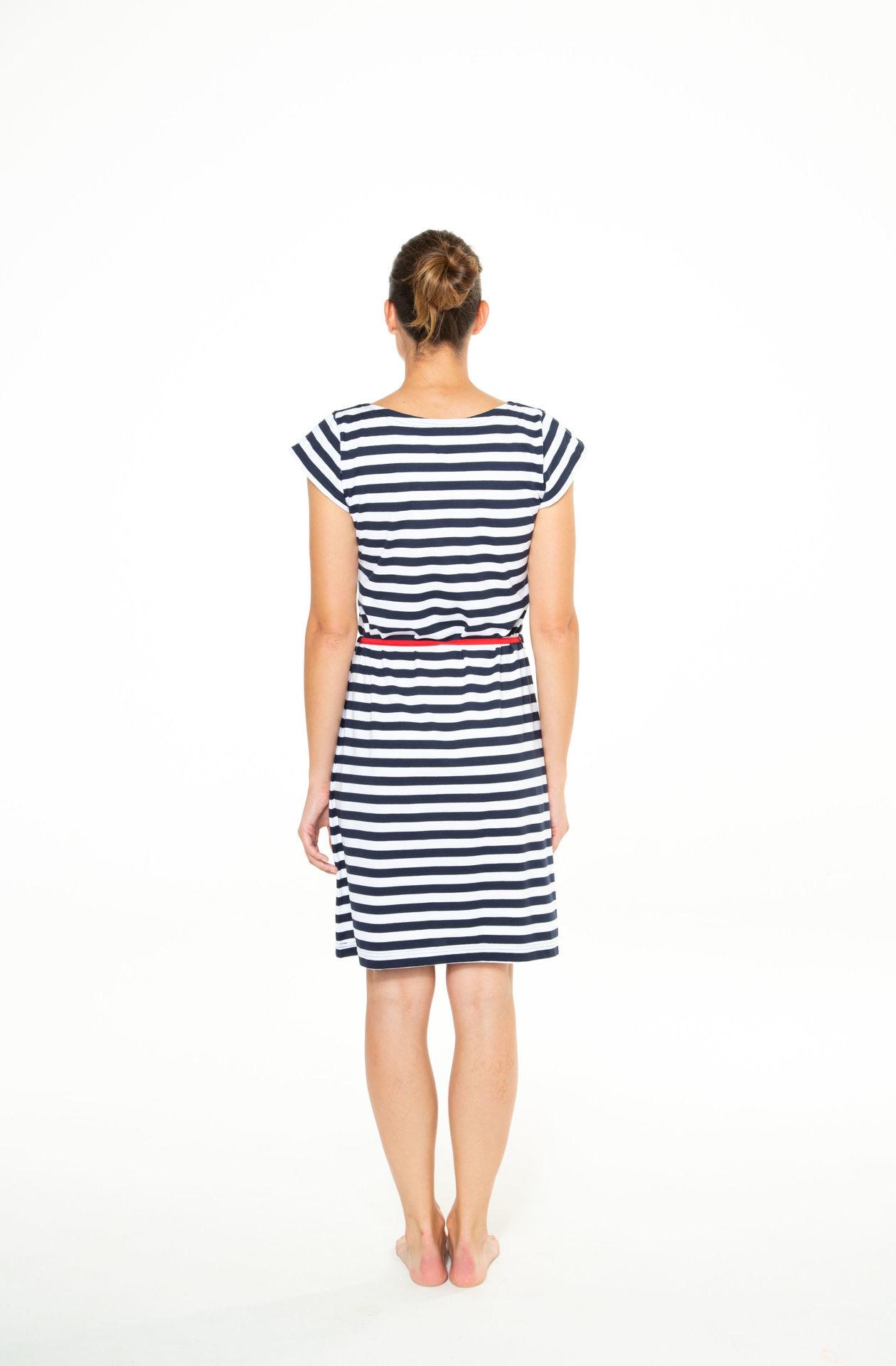 Picture of Ženska haljina kratkih rukava s vezicom