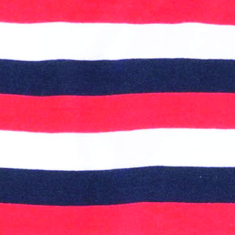 Stripes white / red / dark blue (6010)