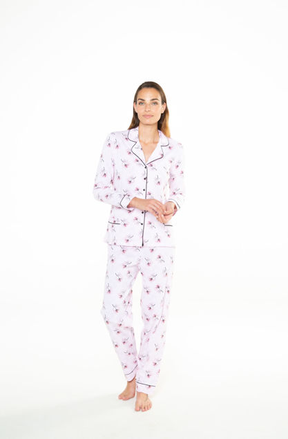 Picture of Women's pajamas with buckles and flower print