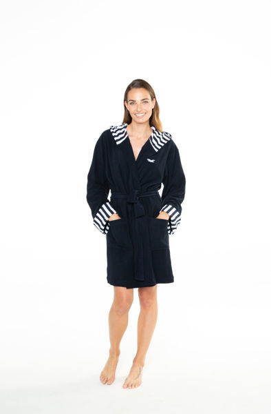 Picture of Women's hooded bathrobe
