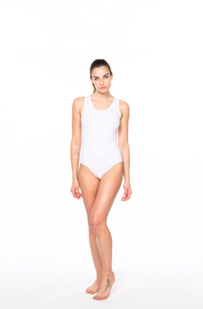 Picture of Women's cotton bodysuit with a wide strap