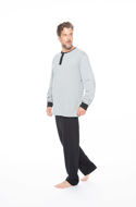 Picture of Men's long-sleeved pajamas with buttons