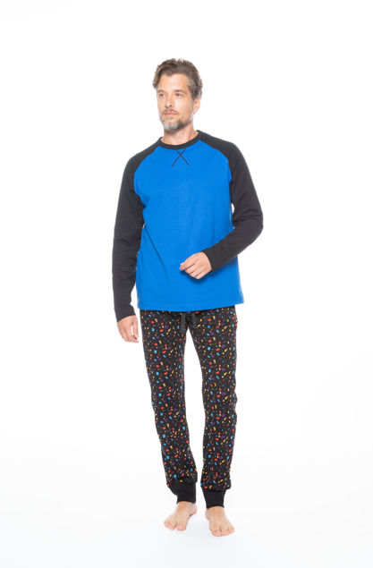 Picture of Men's pajamas with a colorful print