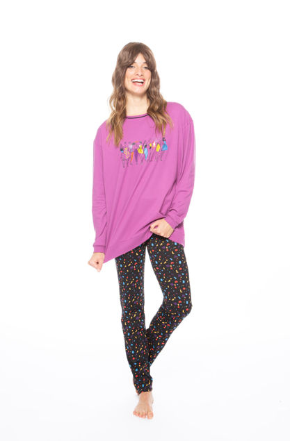 Picture of Women's pajamas with a colorful print
